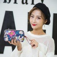 New 2021 Bag Women's Fashion Mobile Phone Zero Wallet Mini Oxford Canvas Casual Three-layer Hand