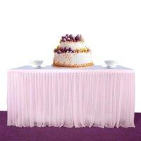 Mesa saia high-end esticar fio elegante malha macio tutu para festa casamento aniversário decoração para casa