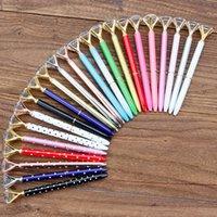 الإبداعية كريستال الزجاج Kawaii حبر جاف القلم كبير جوهرة الكرة القلم مع كبير الماس 36 ألوان الأزياء مكتب اللوازم المكتبية 332 S2