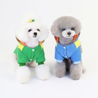Dog Apparel Pet Cat Fashion Mix Colours Cotton-padded Clothes Thickened Warm Soft Comfortable Easy To Wear Take Off