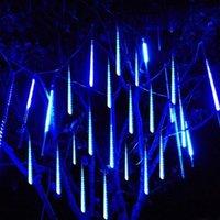 50 см 8 Трубка 284LED LED падающие огни дождя Рождественские метеорные душевые огни на открытом воздухе садовое дерево фея струна светлая гирлянда