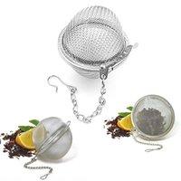 Bola de chá de aço inoxidável 5cm malha infuser infuser filtros Premium Intervalo de filtro difusor para chá de folha solta temperar especiarias GWB8729