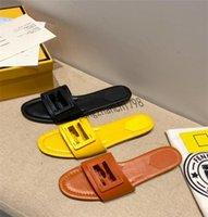 2021 Son Modeller Tasarımcı Kadın Terlik Bayanlar Lüks Hakiki Deri Terlik Düz Ayakkabı Oran Sandal Parti Ayakkabı ile Kutusu Boyutu 35-41