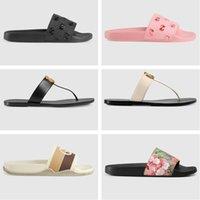 2021 Tasarımcı Slaytlar Kadın Çevirme Deri Sandal Çift Metal Siyah Beyaz Kahverengi Terlik Yaz Plaj Sandalet Kutusu Boyutu 36-45