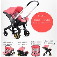 Strollers# Baby Carrier Strollers 3-in-1 Infant Car Seat And Stroller Multi-function Dual-use Bassinet 4-in-1 Mother Travel Equipment