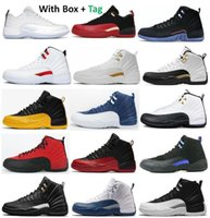 12 Utility Royalty Twist OVO Inverser la grippe de grippe Chaussures Hommes 12s University Gold Dark Concord Taxi Taxi Playoff Stone Français Blue Cherry Cherry Bol Sneakers