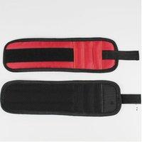 الأساور المغناطيسي العملية قوية تشاك مجموعة أدوات المعصم المغناطيسي معصمه جيب أداة حزام الحقيبة حقيبة مسامير حامل القابضة أدوات HWC6006