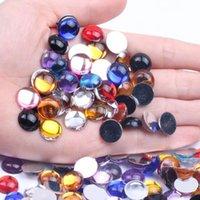 Nail Art Decorations 12mm 200 1000pcs Half Round Beads Facets Many Colors Flatback Glue On Acrylic Rhinestones DIY Craft Backpack Garment Ac