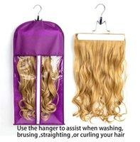 Borsa di stoccaggio di estensioni per capelli all'ingrosso con attaccapanni del supporto del titolare del parrucchiere dei parrucchieri per lo stile del negozio