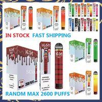 R&M Max Cartoon Electronic Cigarette 9ml 1300mAh 2600 Puffs 10 Colors Disposable Vape vs geek bar air bang xxl float RANDM fast