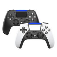 2021 PS5 PS4 충격 제어기 용 무선 블루투스 컨트롤러 조이스틱 게임 패드 게임 컨트롤러 패키지 빠른 배송