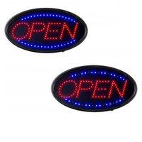 Letrero abierto de neón LED para negocios Señalada con luz con luz eléctrica interior Signe Fo Fo Fo TOTALES (19 x 10 pulgadas) Incluye busines Horas y Open Señales cerradas Crestech