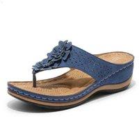 Yaz kadın jetleri düz plaj sandalet t kayış flip flops tong elastik bayanlar gladyatör barajları Sandles 210619 62PC
