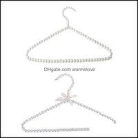 Ropa de perchas Organización de Housekee Home GardyHangers Racks Plastic Imatit Pearl Ropa Percha Bow Dress Abrigo Almacenamiento Organizador Dr