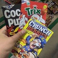 Sac esketit Sac Sac Esketit Crunch Reese Cocoa Puffs Trix Edibles Gummies Packaging Pochette à glissière à la fermeture à glissière 400 mg