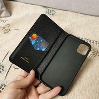 Nueva caja del teléfono del diseñador de moda para iPhone 12 12PRO MAX XS XR XSMAX Tarjeta de cuero de alta calidad Tarjeta de bolsillo para iPhone 11 Pro Max