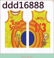 1/3 Tweety NCAA 2021 فيلم الفضاء المربى لحن الفريق كرة السلة جيرسي الأزرق 10 لولا! TAZ 7 R.RUNNER LEBRON 6 JAMES 23 Michael 1 Bugs Orange