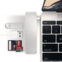 جودة عالية وشعبية 5 في 1 كومبو نوع C USB 3.0 USB C Hub Micro SD / SD قارئ بطاقة مع منفذ شحن لماك بوك 12 بوصة 13 بوصة