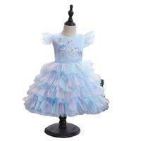 Babykleid 0-4t Tiered Röcke Spitze Mädchen Kleider Pettiskirt Tutu Prinzessin Formale Kleider 1. Geburtstagskleid Für Baby Kleidung B4030