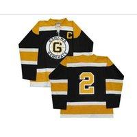 Men goodjobize CHL Oshawa Generals OHL 2 Bobby Orr Hockey Jersey Black embroidery Hockey Jersey or custom any name or number retro Jersey