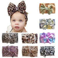 Kids Tie- dyed Hairbands Leopard Printed Big Bow Headbands So...