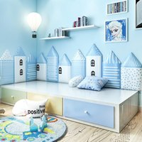 Wall Stickers Baby Anti-collision Bed Headboards Decor Kids Room Soft Bag House Shape 3D Sticker Bedroom Tatami Self Adhesive