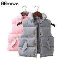 Apertura autunno autunno inverno gilet baby cappotti nuovi 1-7t gilet solidi per ragazze bambino ragazzi ragazzi casual piccolo bambino tuta sportiva PQ17
