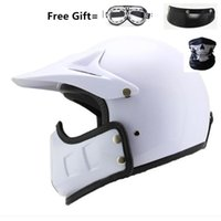 Retro Motorcycle Helmet Personality Combination Full- helmet ...