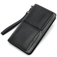 Wallets Luufan Genuine Leather Men Wallet Handbag With Coin Pocket Retro Fashion Style 2021 Design Money Clip Multifunction Long Bag