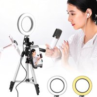 Cell Phone Mounts & Holders Portable 5.7-Inch Led Ring Light With Tripod Live Fill Selfie Flash + Mobile Holder Bracket