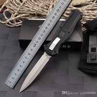 Bench BM 3300 made 3310 Automatic Knife Out the front Double Action Auto D2 spear point Plain Tactical EDC survival knife 3310BK Tools