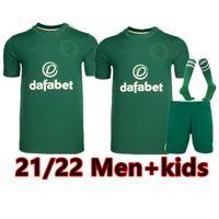 21 22 سلتيك لكرة القدم الفانيلة edouard براون duffy تايلور كريستي لكرة القدم قميص الرجال الاطفال عدة موحدة