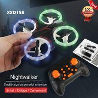 XXD158 прохладный свет беспилотный вертолет игрушка Quadcopter Drone без головы 6axis один ключ возврат 360 градусов Flip LED RC игрушки