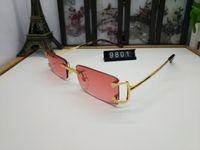 럭셔리 선글라스 무두질 한 섬세한 유니섹스 선글라스스 메탈 운전 안경 C 장식 고품질 디자이너 UV400 렌즈 안경 16 모델