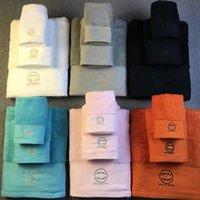 Asciugamani di stile moderno Moda Asciugamani di alta qualità Set di asciugamano di alta qualità Classic Design Branded Lettera Ricamo Home Bath Nave