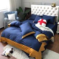 الحرة الشحن التطريز البحرية الفراش مجموعات آلهة نمط لينة القطن غطاء السرير مجموعات 4 أجزاء أعلى جودة حاف غطاء دعوى للمنزل