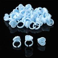 False Eyelashes Tools Volume Plastic Blossom Disposable Glue Rings Cups Lash