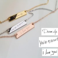 Pendant Necklaces Custom Actual Handwriting Necklace Personalize Memorial Signature Mother's Day Chirstmas Birthday Valentine's Gift