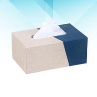 Caja de almacenamiento de papel de papel de cuero de cuero de 1pc 1pc Caja de almacenamiento de papel para el hogar (tamaño pequeño + beige)