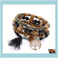 Jewelrypromotion Bohemia Charm Women Shambhala Crystal Beads Multi Layer Tassel Bracelets & Bangles With Vintage Coin Pendant Drop Delivery