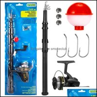 Boat Sports & Outdoorsboat Fishing Rods Rod And Reel Combo 9Pcs Tackle Set Pole With Spinning Floats Hooks Aessories Drop Delivery 2021 Zszn