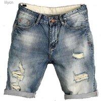 Drop Shipping Brand Men's Embroidery Jeans Shorts Denim Shorts Bermuda Skate Board Harem Mens Jogger Ankle Ripped1