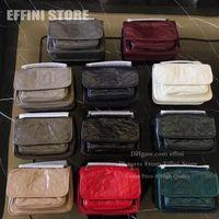 With Logo Super Quality Niki Womens Shoulder Luxurys Designers s Handbags Purses Effini Cowhide Genuine Leather Cover Crossbody Messenger Bag