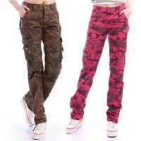 Plus Size Denim Pantalon Cargo Carouflage Femme 2021 Männer / Womens Multi-Pocket Military Sackgy Lose Jeans Camo Pants Hose