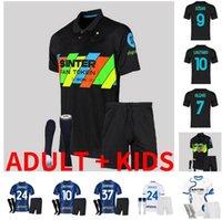 Inter 2021 2022 Soccer Jerseys Lukaku Milan Vidal Barella Lautaro Eriksen Alexis Hakimi 4ème 20 21 22 Chemise de football Uniformes Hommes Kit Kit Kit quatrième