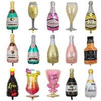 Winebottle 하트 알루미늄 호일 다이아몬드 반지 크라운 공기 풍선 풍선 웨딩 파티 풍선 키즈 웨딩 파티 장식