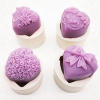 Strumenti di artigianato Accessori per la cottura Fondant Torta Stampo Bouquet Loving Heart Shape San Valentino Regalo 3D Rose Flower 1 PC Decorazione