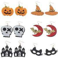 Halloween Wacky Charm Earrings Cosplay Grimace Skull Bat Pumpkin Castle Hat Felt Pendants Earring Jewelry For Women Party Gift