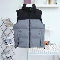 Klasik sonbahar ve kış aşağı yelek sıcak erkekler kadın moda mont aşağı ceket dış giyim 0911